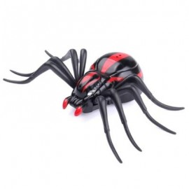 image of INFRARED REMOTE CONTROL REALISTIC MOCK FAKE SPIDER RC TOY PRANK INSECTS JOKE SCARY TRICK BUGS FOR PARTY (BLACK AND RED) 0