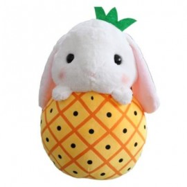 image of CUTE RABBIT FRUIT PLUSH DOLL (YELLOW) 32CM / 12.6 INCH