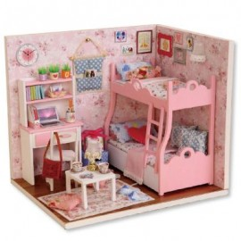 image of CUTEROOM H - 012 - A DIY WOODEN HOUSE FURNITURE HANDCRAFT (COLOURMIX) 15.10 x 11.60 x 13.10 cm