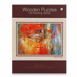 image of LUMINOUS WOODEN PUZZLES OIL PAINTING SERIES SAILING SCENE (COLORFUL) 0
