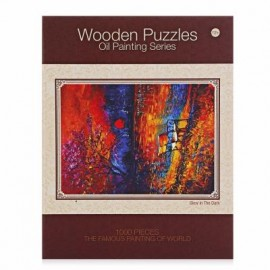 image of WOODEN LUMINOUS PUZZLES OIL PAINTING SERIES SUNSET SCENE (COLORFUL) 0