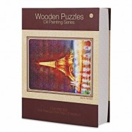 image of LUMINOUS WOODEN PUZZLES OIL PAINTING SERIES TOWER (COLORFUL) 0