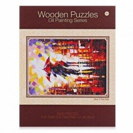 image of LUMINOUS WOODEN PUZZLES OIL PAINTING SERIES RAINY SCENE (COLORFUL) 0