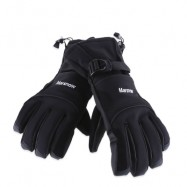 image of MARSNOW WATERPROOF WINTER OUTDOOR WARM THICKENING SKIING RIDING GLOVES FOR MEN WOMEN (BLACK) XL