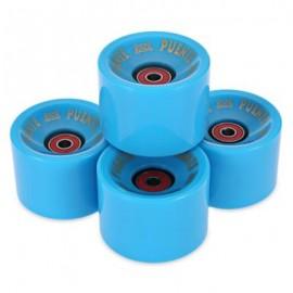 image of 4PCS 70 X 51MM OUTDOOR SPORT SKATEBOARDING WHEEL SKATE BEARING (BLUE) 7.00 x 7.00 x 5.10 cm
