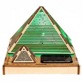 image of COLORED DRAWING DIY VENEERCHEOPS PYRAMID WITH AUTOMATIC SOLAR LED LIGHT SENSATION ROMANTIC GIFT FOR VALENTINE'S DAY (COPPER COLOR) -