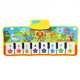 image of BABY MUSICAL CARTOON ANIMAL PIANO PLAY MAT LANGUAGE LEARNING TOY (COLORMIX) One Size