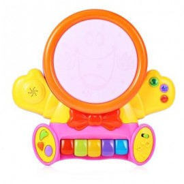 image of HANGLEI KIDS PRESCHOOL COLORFUL MUSICAL SMILE FACE PLAY PIANO WITH LIGHT LEARNING EDUCATIONAL TOY BIRTHDAY CHRISTMAS GIFT (COLORMIX) -