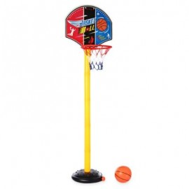 image of LARGE ADJUSTABLE BASKETBALL STAND OUTDOOR SPORT SET CHILD CHRISTMAS TOY WITH INFLATOR PUMP (COLORMIX) -