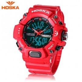 image of HOSKA HD032B CHILDREN DIGITAL QUARTZ WATCH 5ATM CHRONOGRAPH ALARM CALENDAR WRISTWATCH (RED) 0