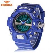 image of HOSKA HD032B CHILDREN DIGITAL QUARTZ WATCH 5ATM CHRONOGRAPH ALARM CALENDAR WRISTWATCH (BLUE) 0