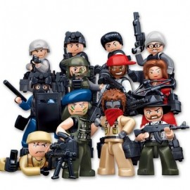 image of SLUBAN BUILDING BLOCKS EDUCATIONAL KIDS TOY 12 MODELS ASSORTED POLICE SET (MIXCOLOR) 0