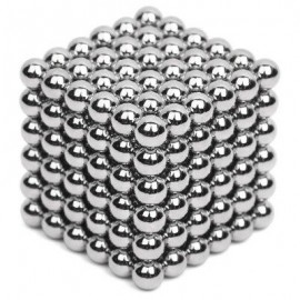 image of 5MM MAGNETIC BALL PUZZLE NOVELTY TOY FOR DIY - 216PCS (SILVER) -