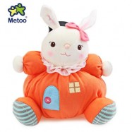 image of METOO STUFFED PLUSH DOLL TOY BIRTHDAY CHRISTMAS GIFT FOR BABY (ORANGEPINK) 26.00 x 26.00 x 13.00 cm