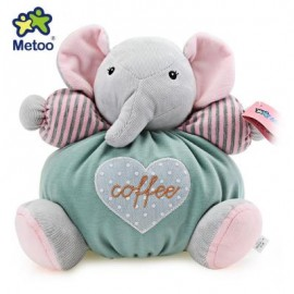 image of METOO STUFFED PLUSH DOLL TOY BIRTHDAY CHRISTMAS GIFT FOR BABY (LIGHT GREEN) 26.00 x 26.00 x 13.00 cm