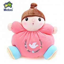 image of METOO STUFFED PLUSH DOLL TOY BIRTHDAY CHRISTMAS GIFT FOR BABY (WATERMELON RED) 26.00 x 26.00 x 13.00 cm
