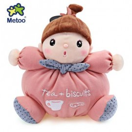 image of METOO STUFFED PLUSH DOLL TOY BIRTHDAY CHRISTMAS GIFT FOR BABY (PINK) 26.00 x 26.00 x 13.00 cm