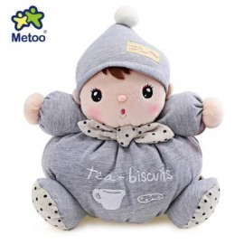 image of METOO STUFFED PLUSH DOLL TOY BIRTHDAY CHRISTMAS GIFT FOR BABY (LIGHT GRAY) 26.00 x 26.00 x 13.00 cm