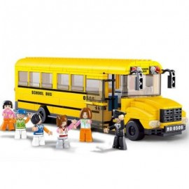 image of SLUBAN BIG SCHOOL BUS EDUCATIONAL TOY BUILDING BLOCKS ( 382 PIECES ) (MAIZE) 0