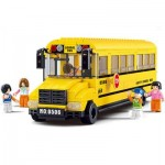 SLUBAN BIG SCHOOL BUS EDUCATIONAL TOY BUILDING BLOCKS ( 382 PIECES ) (MAIZE) 0