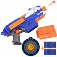 image of ELECTRIC BURST OF SOFT BULLET RIFLE GUN TOY FOR KIDS OUTDOOR SHOOTING GAME (BLUE) 0