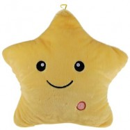 image of LED LIGHT LUMINOUS STAR PLUSH DOLL PILLOW TOY (DEEP YELLOW) 35.00 x 35.00 x 13.00 cm
