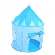image of KIDS PORTABLE FOLDABLE PLAY TENT CUBBY HOUSE CASTLE OUTDOOR SPORT TOY (LAKE BLUE) One Size