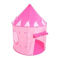 image of KIDS PORTABLE FOLDABLE PLAY TENT CUBBY HOUSE CASTLE OUTDOOR SPORT TOY (PEACH PINK) One Size