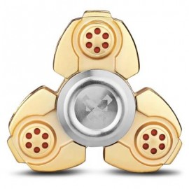 image of TITANIUM ALLOY GYRO STRESS RELIEVER PRESSURE REDUCING TOY FOR OFFICE WORKER (GOLDEN) -