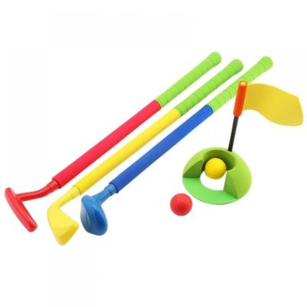WTWY KIDS COLORFUL GOLF SET OUTDOOR SPORTS GAME PRESCHOOL EDUCATIONTOY (COLORMIX) -