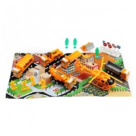 image of XIONGFENGDA KIDS ALLOY 1:60 SCALE SIMULATION CONSTRUCTION SET (YOLK YELLOW) -