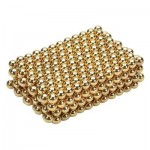 432PCS MINI 3MM DIAMETER MAGNETIC BALL PUZZLE NDFEB NOVELTY TOY (GOLDEN) -