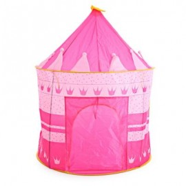 image of CHILDREN FOLDING PLAY HOUSE PORTABLE OUTDOOR INDOOR TOY TENT CASTLE CUBBY PLAYHUT (RED) One Size
