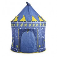 image of CHILDREN FOLDING PLAY HOUSE PORTABLE OUTDOOR INDOOR TOY TENT CASTLE CUBBY PLAYHUT (BLUE) One Size