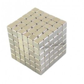 image of 216PCS NDFEB MINI 5MM SQUARE MAGNETIC BLOCK PUZZLE EDUCATIONAL TOY FOR INTELLIGENCE DEVELOPMENT (SILVER) -