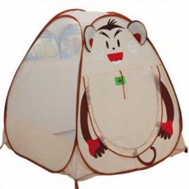 image of KID BABY PLAYHOUSE GAME TENT HOUSE OUTDOOR INDOOR SPORT TOY (COLORMIX) MONKEY PATTERN