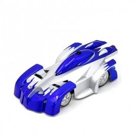 image of MINI WALL CEILING GLASS CLIMBING REMOTE CONTROL CAR TOY (BLUE) 0