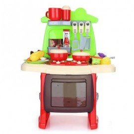 image of RANXIAN LUXURY SIMULATION KITCHEN COOKING TOOLS KIT FOR KIDS (RED) -