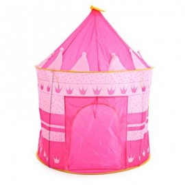 image of CHILDREN FOLDING PLAY HOUSE PORTABLE TOY TENT CASTLE PLAYHUT (RED) -