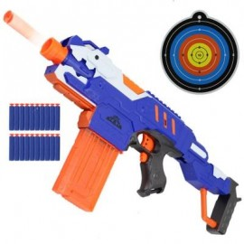 image of NEW ELECTRIC BURST OF SOFT BULLET RIFLE GUN TOY FOR KIDS OUTDOOR SHOOTING GAME (BLUE) 0