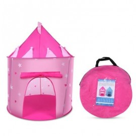 image of KIDS PORTABLE FOLDABLE PLAY TENT CUBBY HOUSE CASTLE OUTDOOR SPORT TOY (PEACH PINK) -