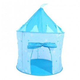 image of KIDS PORTABLE FOLDABLE PLAY TENT CUBBY HOUSE CASTLE OUTDOOR SPORT TOY (LAKE BLUE) -