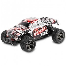 image of JULE UJ99 - 2811B 2.4GHZ 1:18 RC CAR RTR 20KM/H / SHOCK ABSORBER / IMPACT-RESISTANT PVC SHELL (RED) -