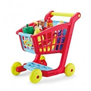 image of SHOPPING TROLLEY SUPERMARKET PLASTIC PRETEND PLAY TOY SET FOR EARLY EDUCATION (COLORMIX) -