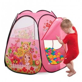 image of NUKIED CHILDREN CARTOON BUTTERFLY PATTERN TENTS (PINK) 0