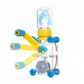 image of ODEV DYNAMO LANTERN EDUCATIONAL STEM TOY HAND CRANKED POWER GENERATOR (YELLOW) 0