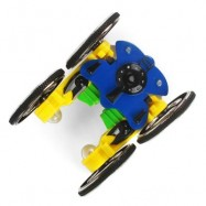 image of MINI RC STUNT CAR RTR 2.4GHZ 4WD / SPIN / LED LIGHTS (BLUE AND YELLOW) 9.00 x 6.50 x 3.00 cm