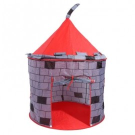 image of KIDS PORTABLE FOLDABLE PLAY TENT WALL DESIGN CUBBY HOUSE OUTDOOR SPORT TOY (COLORMIX) -