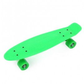image of 22 INCH FOUR-WHEEL STREET LONG MINI FISH SKATEBOARD (GREEN, GREEN WHEEL) Green Wheel