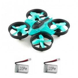 image of F36 MINI 2.4GHZ 4CH 6 AXIS GYRO RC QUADCOPTER WITH HEADLESS MODE / SPEED SWITCH (CYAN) WITH TWO BATTERIES